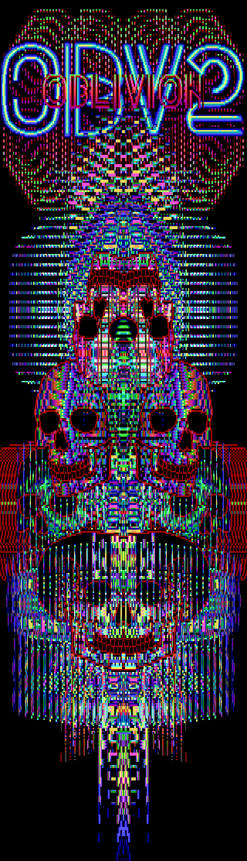 skulls, skull, neon, neon lights, lights, colors, colored, mosaic