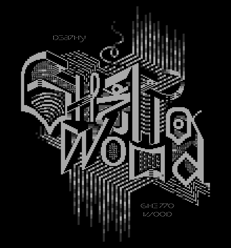 2m - ghettowood ep.png, logo, font, typography, ghettowood, matt, mattmatthew, 2m, poster, gray, grey, grayscale, greyscale, ascii