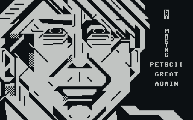 om-great.png, otium, om, petscii, portrait, gray, grey, grayscale, greyscale, great