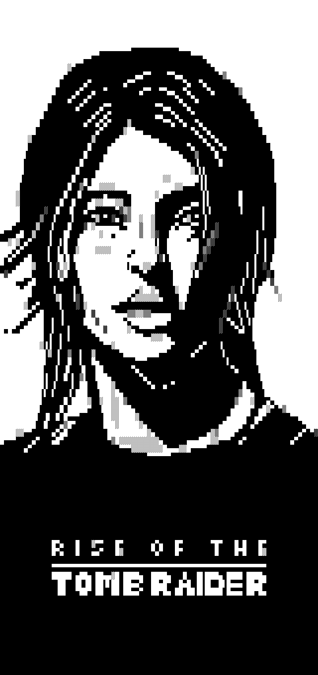 om-tombraider.ans, tomb, tomb raider, lara, lara croft, black, white, black and white, b&w, portrait, grayscale, greyscale, otium, om, game, videogame, video game, girl, woman