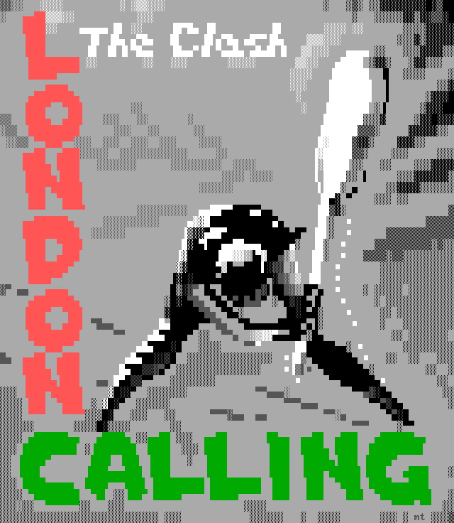 misfit-london-calling-ans, misfit, rock, james bodie, album, cover, album cover, music, london calling, london, calling, clash, the clash, rock and roll, gray, black, green, red, guitar