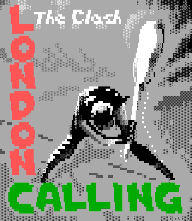 misfit-london-calling-ans, misfit, rock, james bodie, album, cover, album cover, music, london calling, london, calling, clash, the clash, rock and roll, gray, black, green, red, guitar