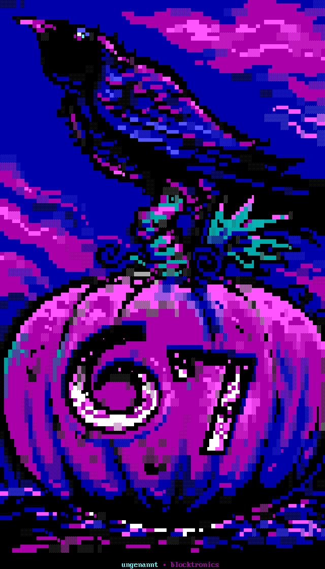 _pumpkin_by_ungenannt-ans, ungennant, crow, pumpkin, halloween, blue, purple, cloud, clouds, lordjazz