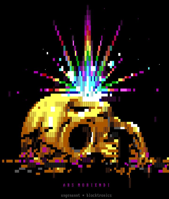 ungennant_ars_moriendi, ungennant, lordjazz, skull, yellow, colorful, rainbow, ars moriendi