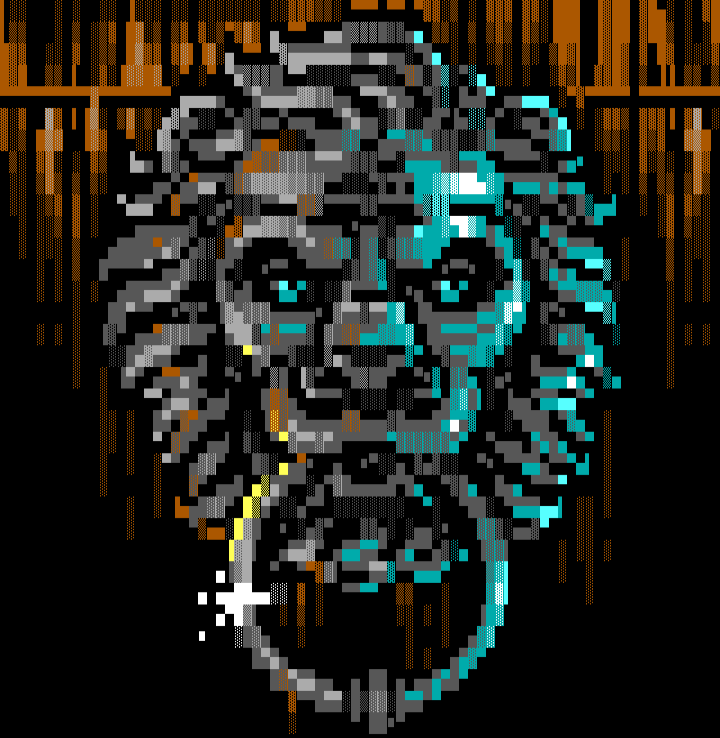 ungennant_knock-knock, ungennant, lordjazz, lion, door, cyan, brown, dark, gray, black
