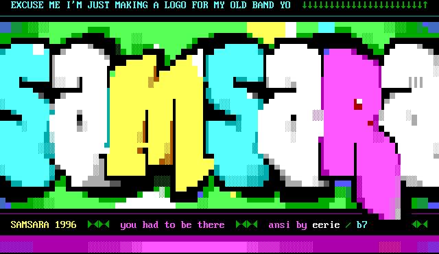 font, logo, typography, samsara, eerie, 33, cyan, white, yellow, green, purple