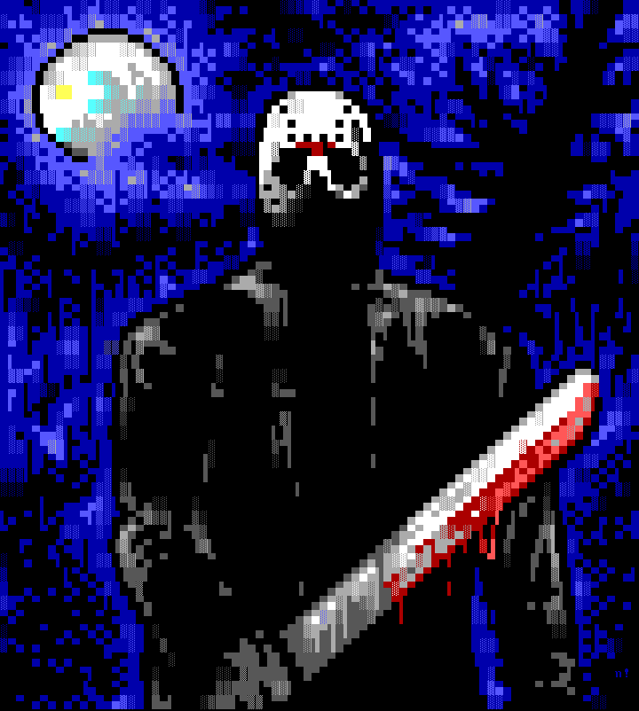 calendar, nail, jason, movie, blood, white, blue, knife, kill, friday the 13th