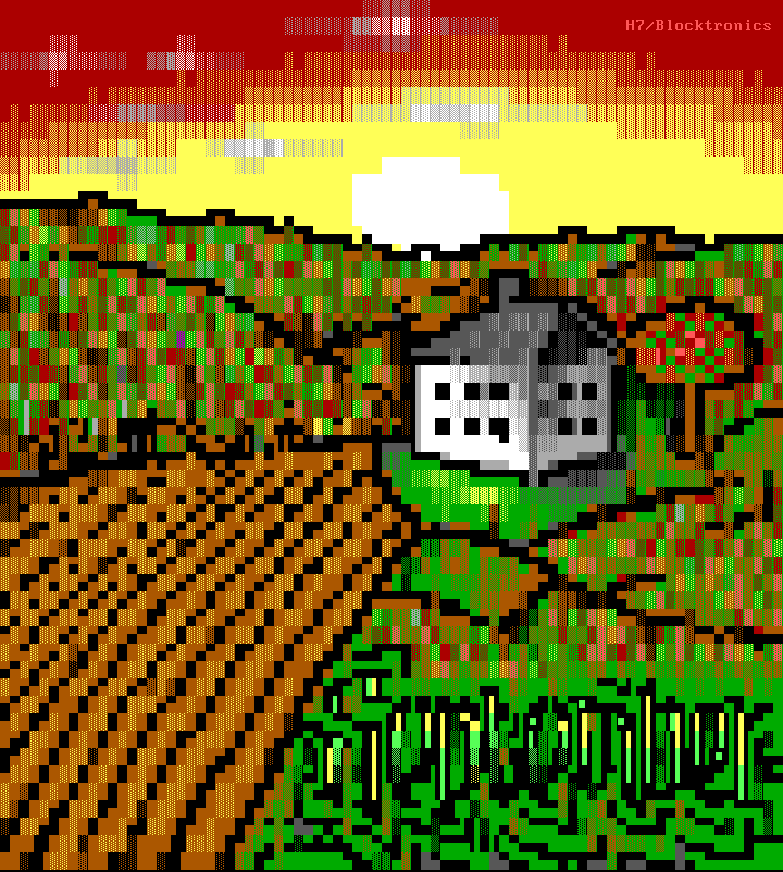 red, green, brown, yellow, white, h7, farm, house, sun, sky, september, calendar