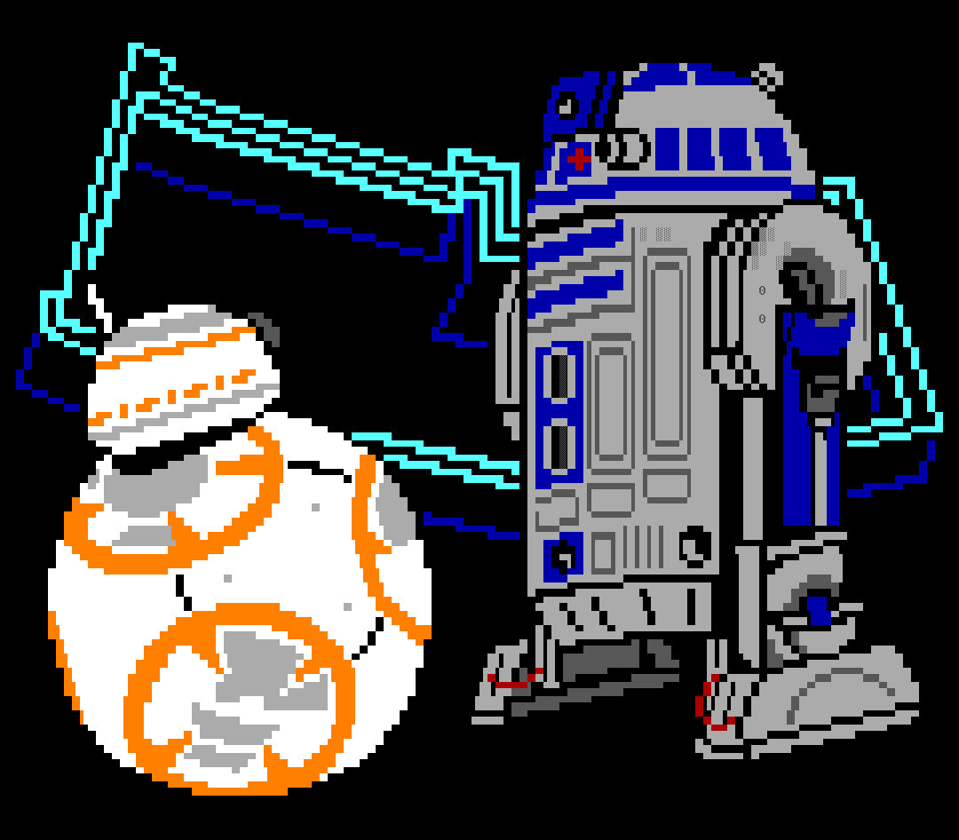 star wars, detention block, detention block aa-23, movie, movie character, droid, droids, robots, r2, r2d2, r2-d2, bb8, bb-8, white, gray, orange, blue, wz, whazzit
