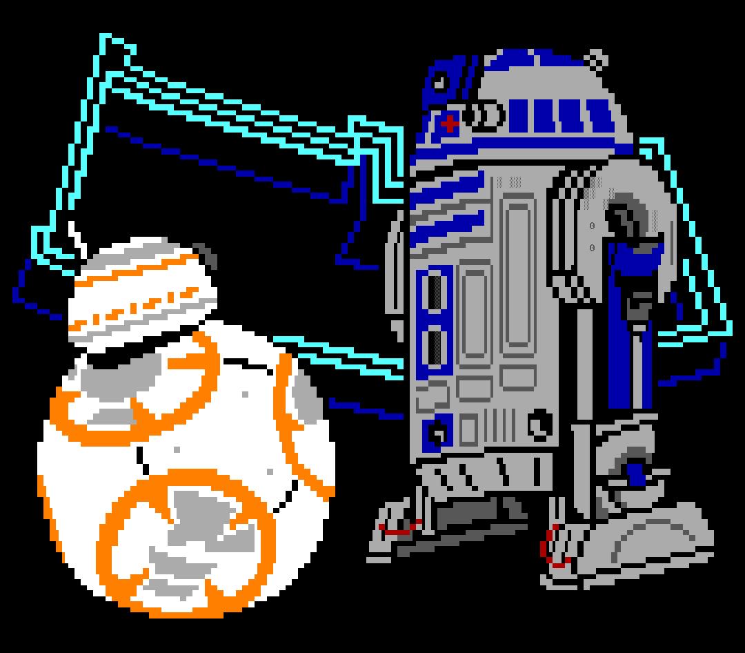 star wars, detention block, detention block aa-23, movie, movie character, droid, droids, robots, r2, r2d2, r2-d2, bb8, bb-8, white, gray, orange, blue, wz, whazzit