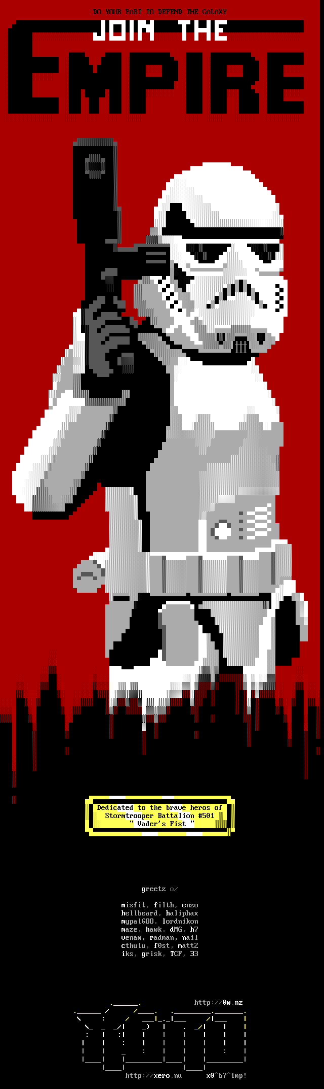 star wars, detention block, detention block aa-23, movie, movie character, storm trooper, weapon, gun, laser, soldier, white, red, empire, poster, xero, xer0, x0, xo