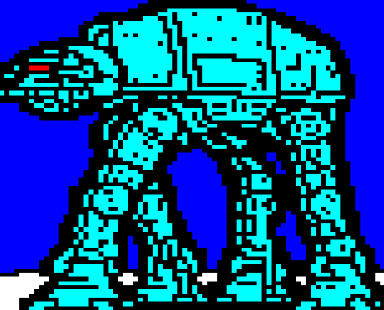 star wars, horsenburger, detention block, detention block aa-23, movie, movies, movie character, atat, at-at, cyan, blue