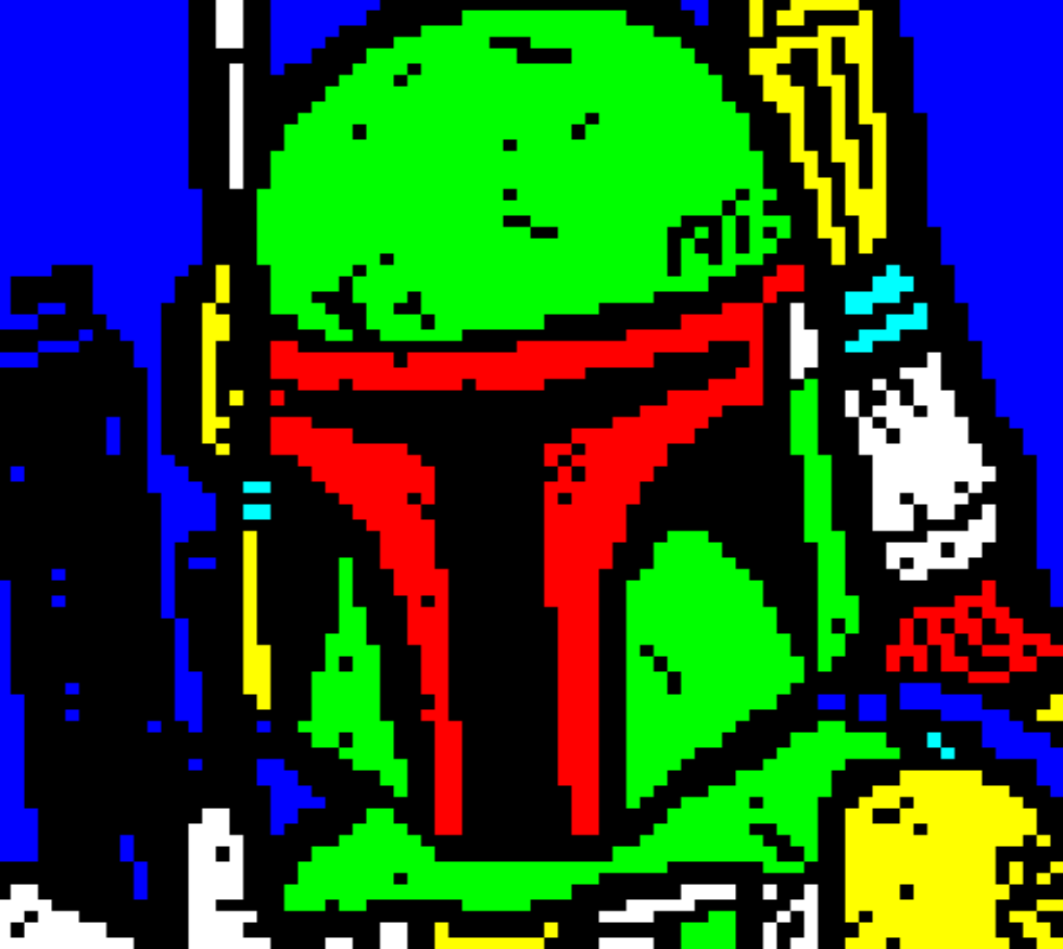 star wars, horsenburger, detention block, detention block aa-23, movie, movies, movie character, red, green, yellow, blue, boba fett, bobafett