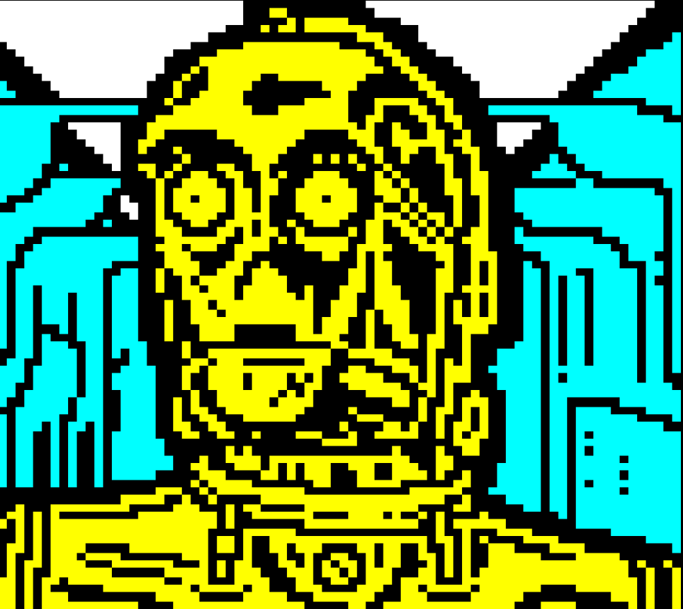 star wars, horsenburger, detention block, detention block aa-23, movie, movies, movie character, yellow, c3po, robot, droid