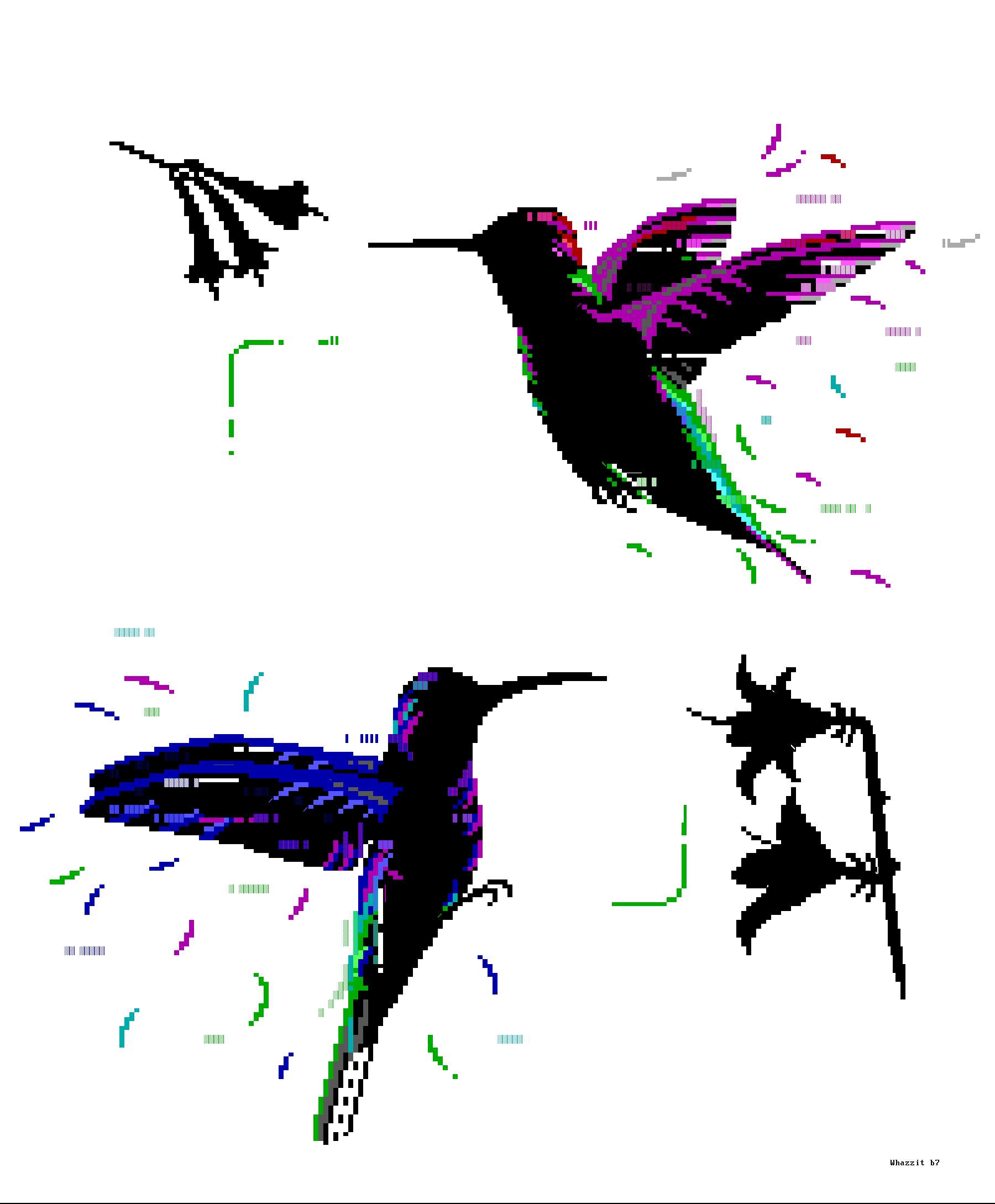 bird, birds, hummingbird, fly, flying, flower, blue, whazzit, purple, white, green