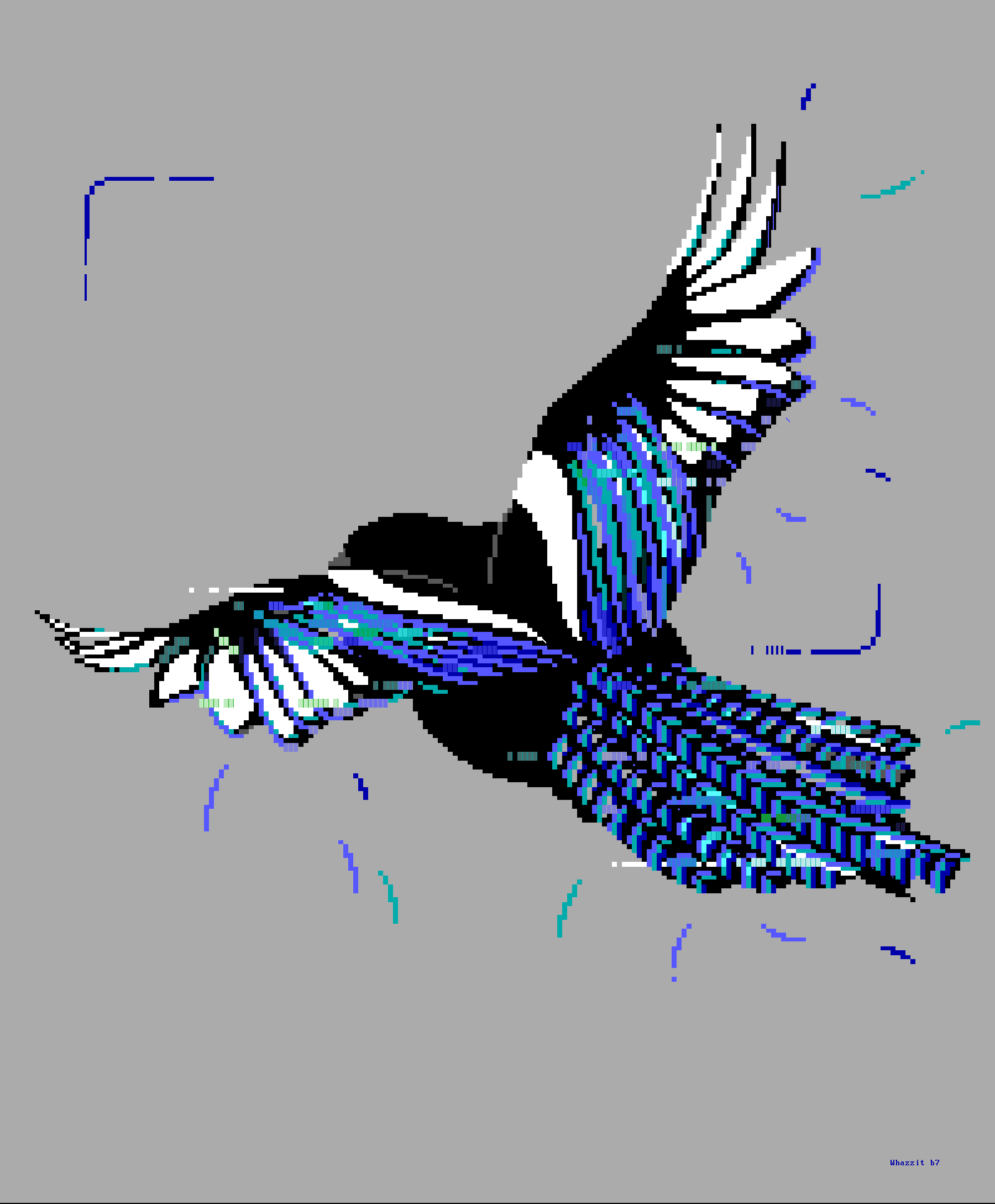 bird, magpie, fly, flying, wing, wings, whazzit, blue, gray, white