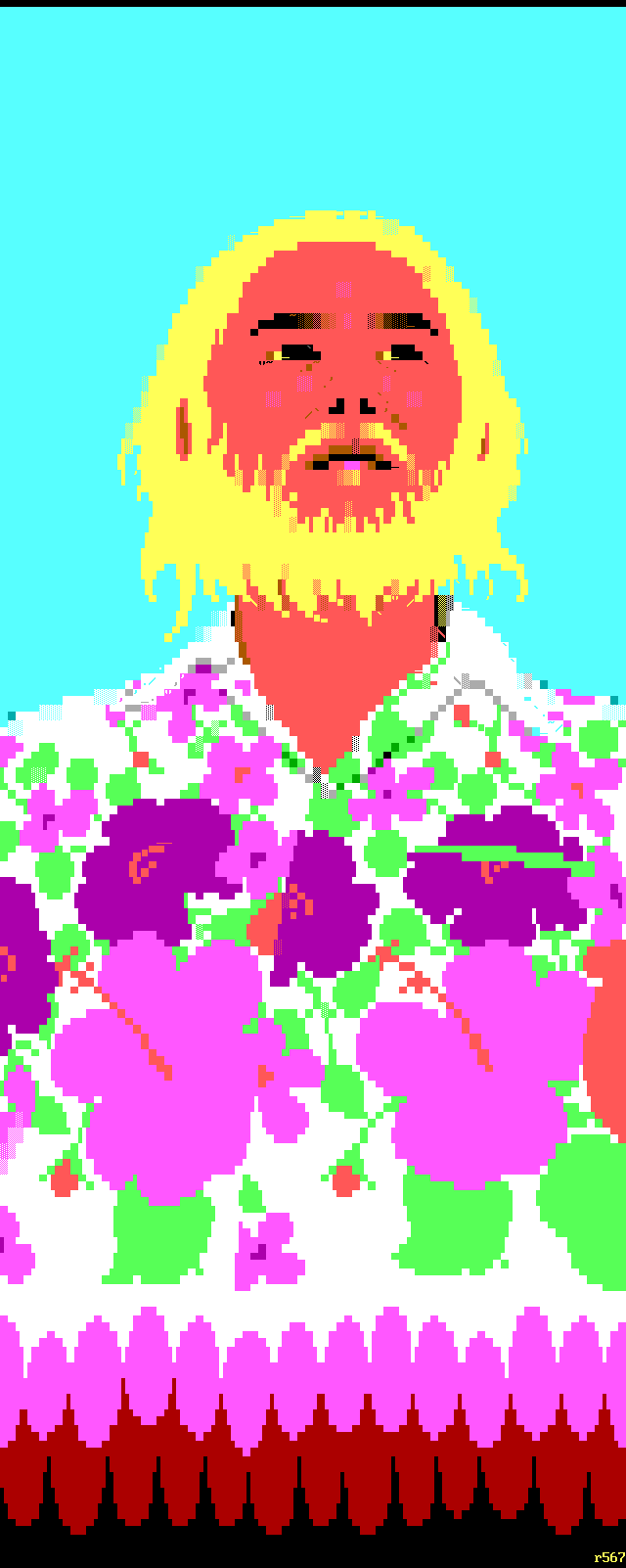 purple, white, cyan, yellow, red, green, flower, flowers, japan, japanese, reset, r5, reset survivor, portrait, man